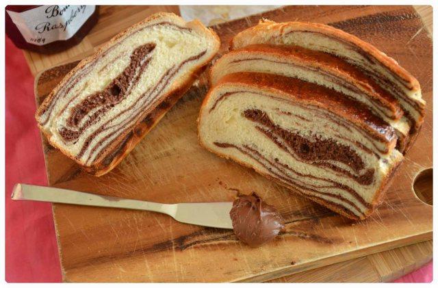chocolate swirl marble bread tangzhong