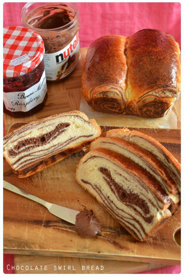 chocolate swirl marble bread tangzhong2