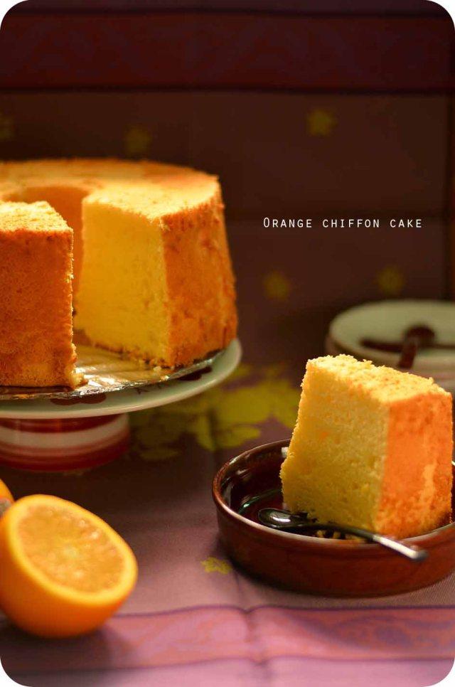 orange chiffon cake cover