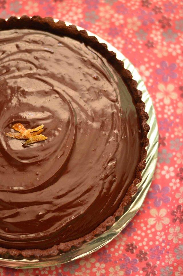 Dark chocolate orange tart 2